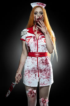 Costume de nurse zombie - visuel